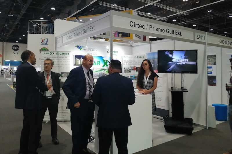 Stand of Cirtec and Prismo Gulf Est. in the WRC2019